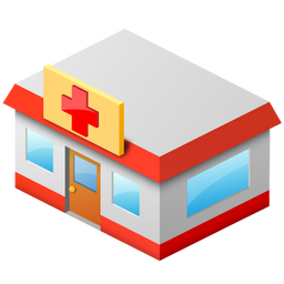 Drugstore Bank Medicine Building Hospital Large Home 256px Icon Gallery