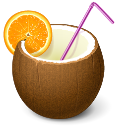 Coconut Drink Cocktail Vacation 16px Icon Gallery