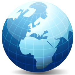 Globe Earth World Vista Network Internet Map DevCom Network Set - World map glob
