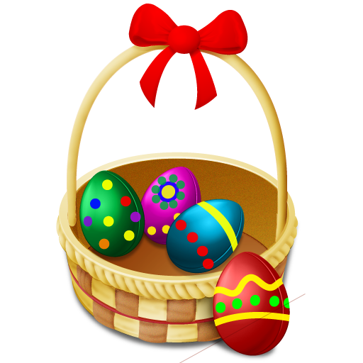 Easter Eggs Basket Lin 128px Icon Gallery