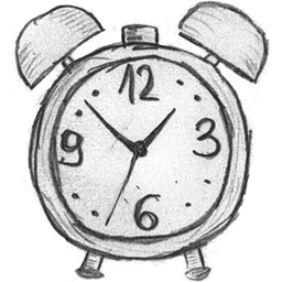 Time History Clock Alarm 49 Hand Drawn Icons 256px Icon Gallery