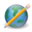 Write world earth cms edit browser pencil