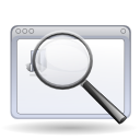 Find zoom enlarge application magnifying glass search