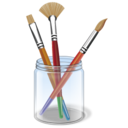 Paint brush design draw color