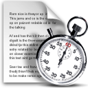 Cron stopwatch file schedule clock