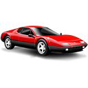 Sports car ferrari car red