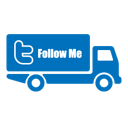 Follow me transportation twitter truck