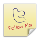 Twitter post it follow me