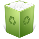 Trash full recycle bin