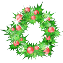 Christmas holly garland