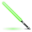 Green star wars light saber