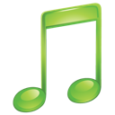 Music sound itunes green