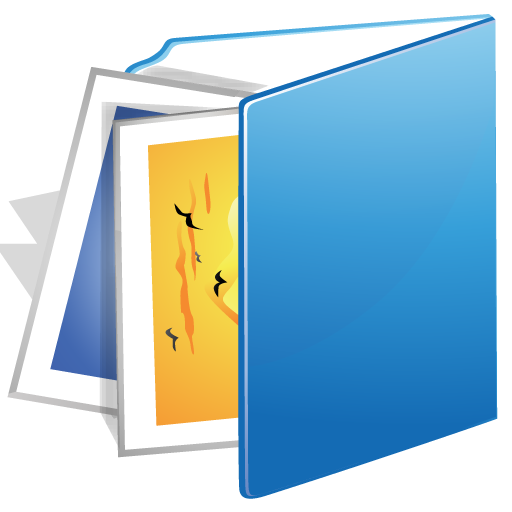 Blue images folder