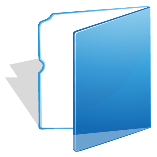 Light folder blue