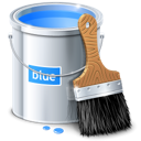 Paint design color bucket blue