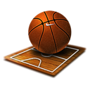 Sport ball basket basketball