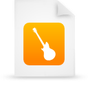 Instrument orange file document music paper guitar