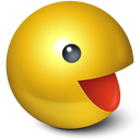 Yellow pacman games smiley cute