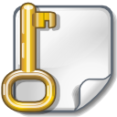 Locked encrypted key file