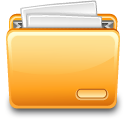 Paper filing file folder full