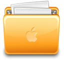 Folder full file apple paper