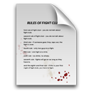 Blood paper rules document fight club