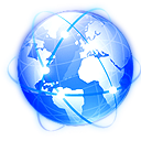 Browser network globe internet world
