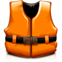 Support orange life vest rescue help