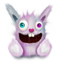 Pink rabbit smile animal elonizm pet