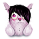 Emo animal pink rabbit