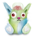 Green animal rabbit