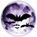 Full halloween bats moon horror
