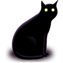 Animal cat black halloween