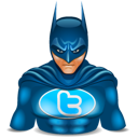 Super hero twitter batman