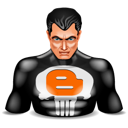 Blogger punisher super hero