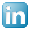 Blue linkedin box social