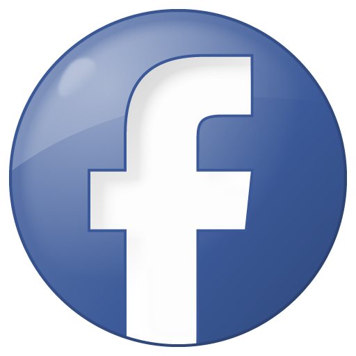 Button blue facebook social