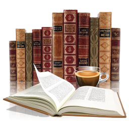Information antique coffee cup knowledge reading literature library classic books