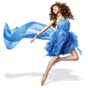 Ballet dance dress blue girls