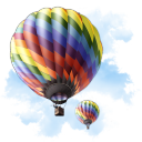 Air balloon flight transportation travel