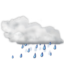 Weather status showers scattered