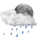 Status night scattered showers weather
