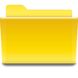 Places folder yellow
