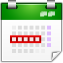 Actions view calendar workweek