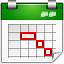 Actions view calendar timeline