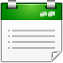 Actions view calendar list