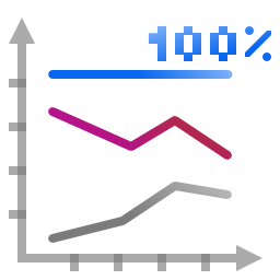 Actions office chart line percentage