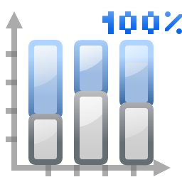 Actions office chart bar percentage
