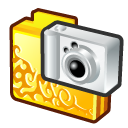 Folder digital camera gold