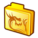 Gold dragon rising folder